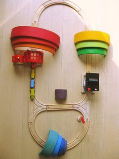 Houten regenboog van Grimm's of Bajo: spelvormen - unicorns & fairytales Young Toddler Activities, Kids Learning Activities, Grimm's Toys, Grimms Rainbow, Rainbow Blocks, Rainbow Activities, Wooden Rainbow, Wooden Train, Green Rooms
