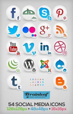 Free Social Media Icons Set 01