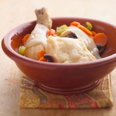 Chicken and Dumplings Does old-fashioned chicken and dumplings bring back memories of dinners at your grandma's house? Try this low-fat recipe and start some traditions of your own.