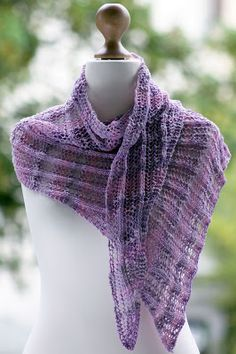 Primavera Wrap: made with roughly 350 yards of dk weight yarn and size US 7 needles
