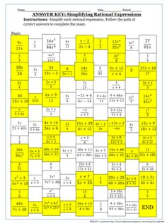 Simplifying Algebraic Rational Expressions