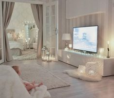 My little Livia loves to sit with her bare feet on this soft blanket in our living room … - Interior Design Living Room Decor Cozy, Bedroom Decor, Romantic Living Room, Decor Room, Room Interior, Interior Design Living Room, Suites, Dream Rooms, My New Room