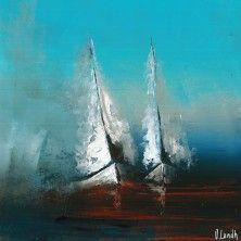 Togetherness / Jonas Lundh Sailboat Painting, Love Painting, Images D'art, Art En Ligne, Painting Techniques, Painting Inspiration, Art Pictures, Landscape Paintings, Photo Art