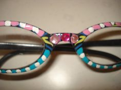 hand painted reading glasses by FunkyAndFunByJean on Etsy, $12.00