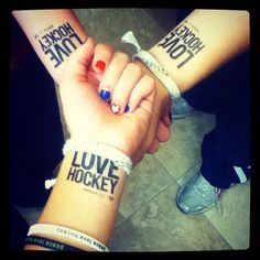 The LOVE HOCKEY tattoos are a hit! Order them online for only $1!! // www.ItsOurIce.com