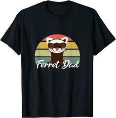 Amazon.com: Mens Cute Vintage Ferret Dad Retro T-Shirt: Clothing Amazon T Shirt, Amazon Merch, Cute Ferrets, Shirt Price, Branded T Shirts, Fashion Brands, Retro Vintage, Dads, Size Chart