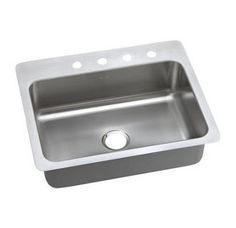 """View the Elkay DSESR12722 Dayton 27"""" Single Basin Drop In Stainless Steel Kitchen Sink at FaucetDirect.com."""