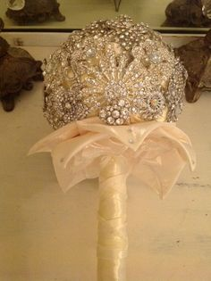 Brooch Bouquet  Jeweled Bouquet Custom Made to by TheFlowerLover, $75.00