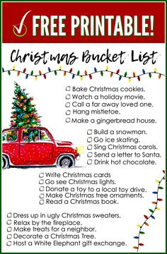 FREE Printable Christmas Bucket List