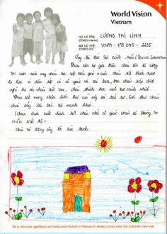 国際NGOワールド・ビジョン・ジャパンを通じての支援者からのお礼のお手紙です。 Kid Names, Words, Children, Shawl, Young Children, Boys, First Names, Kids, Child