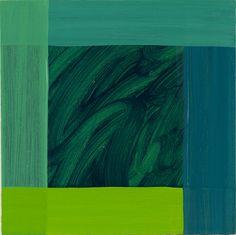 Mary Heilmann, »Green Weave«, 2013 | oil on canvas | 51.5 x 50.8 cm