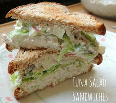 Tuna Salad Sandwiches   Cozy Country Living #tuna #sandwiches #lunch