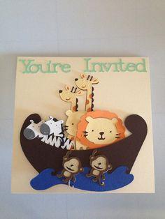 Noah's Ark Baby Shower Invitation by JJsPersonalTouch on Etsy, $4.50