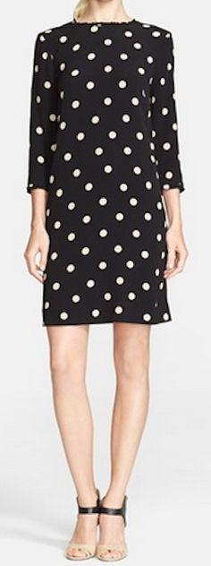 Polka dot shift dress http://rstyle.me/n/pd659nyg6