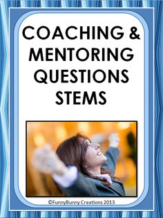 As an Instructional Coach or Mentor, we are often called to help our colleagues/interns grow within this world of education. Question stems to guide conversations. School Leadership, Leadership Coaching, Educational Leadership, Life Coaching, Coaching Quotes, Business Coaching, Leadership Development, Educational Websites, Educational Technology