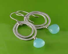 Sterling+Silver+and+Aqua+Chalcedony+Oval+by+annewalkerjewelry