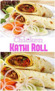 Great Chicken Kathi Roll Recipe - Fa's Kitchen, ,