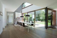 Haus SK - muenchenarchitektur Conference Room, Divider, Exterior, Windows, Flooring, Lynx, Table, House, Furniture