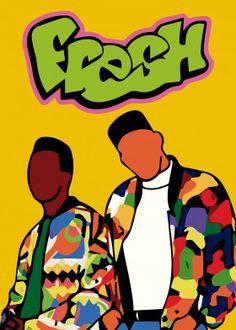 Fresh Prince of Bel-Air by Juan Donoso Simple Canvas Paintings, Small Canvas Art, Mini Canvas Art, Arte Do Hip Hop, Hip Hop Art, Dope Cartoon Art, Dope Cartoons, Fresh Prince, Bedroom Wall Collage