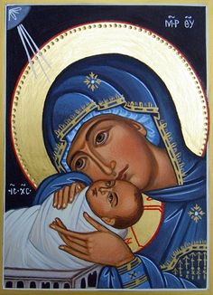 Nativity by Liesbeth Smulders Byzantine Icons, Byzantine Art, Religious Icons, Religious Art, Jesus Mary And Joseph, Christian Artwork, Mama Mary, Russian Icons, Blessed Mother Mary