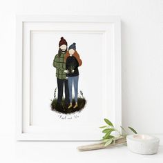 Are you interested in our Custom Couple Portrait? With our Anniversary Gift idea you need look no further.