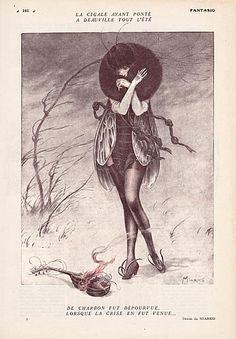 Miarko 1920 Cicada Costume Disguise, Sexy Girl