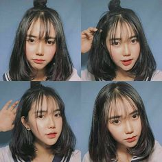 Hunnam hunnyeo🌱 Req pict hunnam oder hunyeo, vsco tutorial ala hunnam h… … Ulzzang Short Hair, Korean Short Hair, Ulzzang Korean Girl, Korean Haircut Medium, Korean Bangs Hairstyle, Hairstyles With Bangs, Korean Girl Photo, Cute Korean Girl, Fake Instagram
