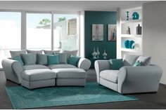 Canapé courbé gris - Grey Sofa