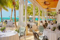 Latitudes Restaurant Outdoor Seating - You have to take a 5 minute ferry ride over to the Westin at Sunset Key.