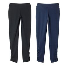 Stay in the comfort zone with two sleek pairs of leggings, great for working out or just lounging at home.FEATURES • Elastic waist• Ruched detail at ankles• Cropped at the ankles • No pocketsMATERIALS • CottonCAREMachine wash, dry flat.Imported Avon Fashion, Summer Fashion Outfits, Casual Outfits, Online Sales, Skirt Pants, New Wardrobe, Women's Leggings, Clothes For Women, Comfort Zone