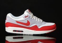 separation shoes 4bced 2cbc1 Nike-Air-Max-1-OG-Weiss-Rot-Grau.