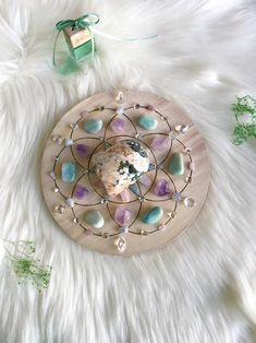 ✨SOLD✨Excited to share the latest addition to my shop: Peaceful and Harmony Complete Set of Crystal Grid Crystal Magic, Crystal Grid, Crystal Shop, Crystals And Gemstones, Stones And Crystals, Black Crystals, Crystal Mandala, Deco Zen, Crystal Aesthetic