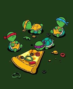 TMNT design from a t-shirt.  Not sure of the artist.