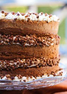 Тыквенный торт с кленовой(медовой) глазурью