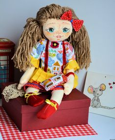 Lala ręcznie malowana - Rozalka - 50 cm plus brelok #clothdoll, #doll #handmade #stuffed #toy @pracownia.malykoziolek #handpainted Princess Zelda, Dolls, Fictional Characters, Art, Baby Dolls, Art Background, Puppet, Kunst, Doll