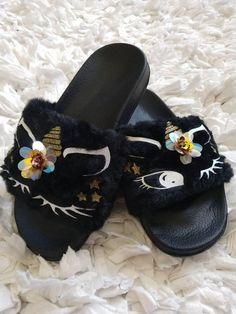 5293761caef8 Womens Girls Novelty 3D Rainbow Unicorn Slippers Wings Mini Me Ladies Kids  Size