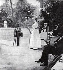Charlotte Cooper won the gold medal at the 1900 Summer Olympics.  References: http://it.wikipedia.org/wiki/Tennis_ai_Giochi_della_II_Olimpiade