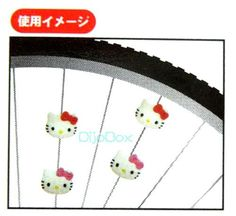 4pcs Sanrio HelloKitty Bicycle Bike Tricycle Wheel Spoke Beads Charm Japan | eBay