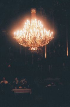 Chandeliers are perfect for mood lighting!