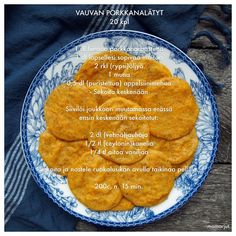 Vauvan porkkanalätyt #porkkana Toddler Meals, Kids Meals, Easy Meals, Easy Healthy Recipes, Baby Food Recipes, Yams, Eating Well, Food To Make, Nom Nom