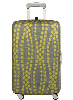 Baggage Covers Cartoon Funny Blue Rockets Pattern Washable Protective Case