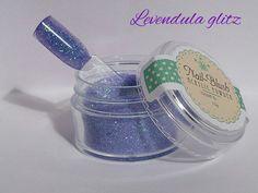 Acrylic nail powder Levendula Glitz 15g by Nail-Blush by NailBlush on Etsy