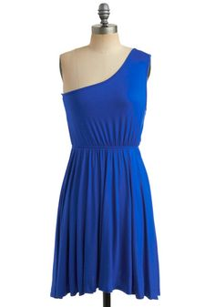 Star Sign Dress in Aquarius-- Love the one-shouldered top and the color