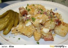 Knedlíky s vajíčky, jak je dělají v Cajzově mlejně recept - TopRecepty.cz Potato Salad, Menu, Potatoes, Make It Yourself, Chicken, Cooking, Ethnic Recipes, Menu Board Design, Kitchen