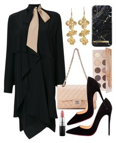 """""""fashion week everyday"""" by rosa97400 ❤ liked on Polyvore featuring Fendi, Christian Louboutin, Kenneth Jay Lane, Chanel, ZOEVA and MAC Cosmetics"""