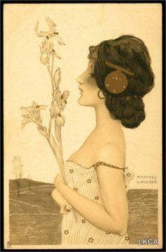 Greek Virgins - Raphael Kirchner (1900)