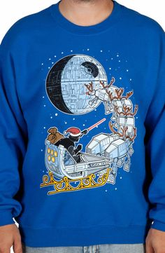 Vader Sleigh Ugly Faux Sweater: Star Wars Mens Sweatshirts