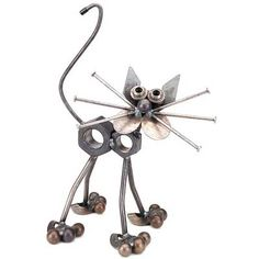 Nuts the Cat - Yardbirds Sculpture by Richard Kolb (created with scrap and recycled parts)