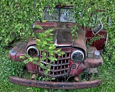 reminds me of all the trips we took looking for just the right old jeep to restore.