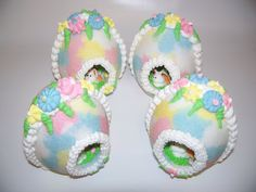 Panoramic Sugar Easter Egg Speckled Pink Blue Yellow & by Sugar4U, $27.00